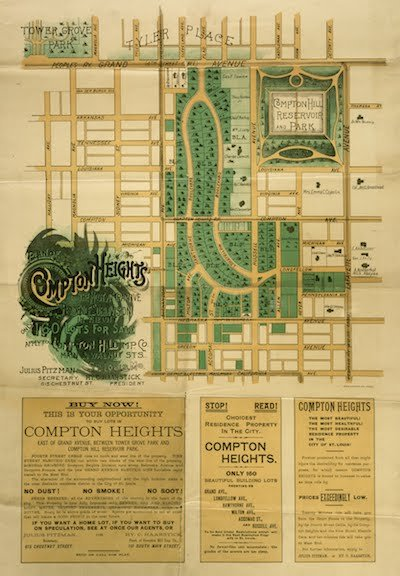 Compton Heights Subdivision Plat Map, Showing Reservoir Park, Courtesy of Missouri History Museum, A0181-07106.jpg