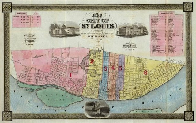 Rene Paul, Map of St. Louis, 1844, David Rumsey Maps.jpg
