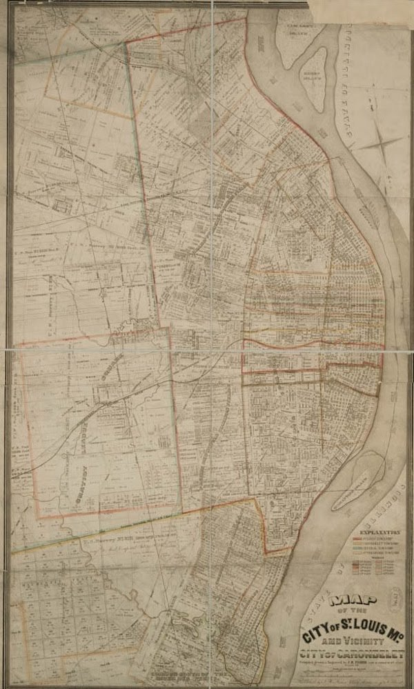 J.H. Fisher, Map of St. Louis, 1856, Missouri History Museum, LIB75.jpg