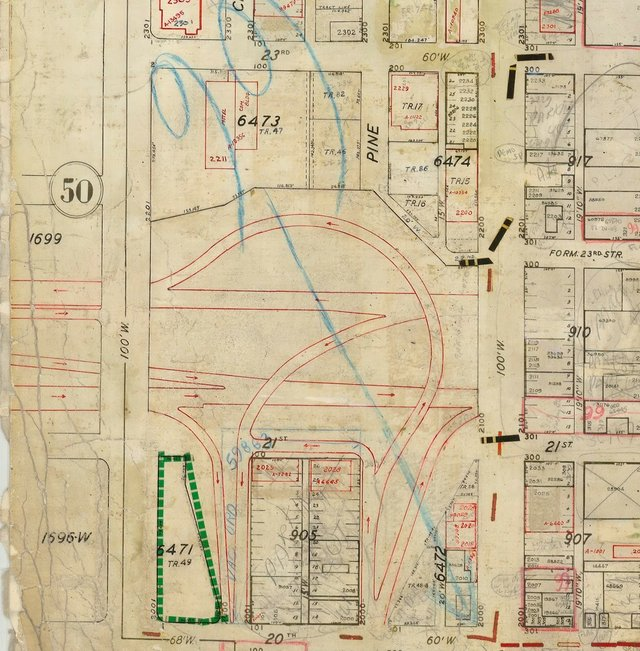 Terminus of 755 at Market Street, St. Louis City Plat Map.jpg