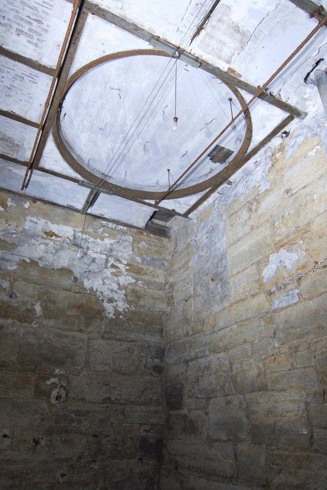 Detail of Fermenting Vat Access Hole, Subbasement of Fermenting House, Photo by Jason Gray.jpg