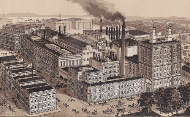 General View of Brewery; new Brew House can be see in center with multiple smokestacks, Courtesy of Stephen Walker.jpg