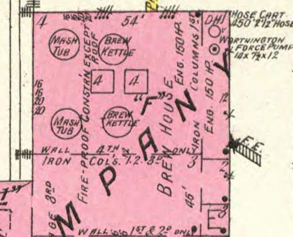 Sanborn Fire Insurance Map of 1885 Brew House.jpg