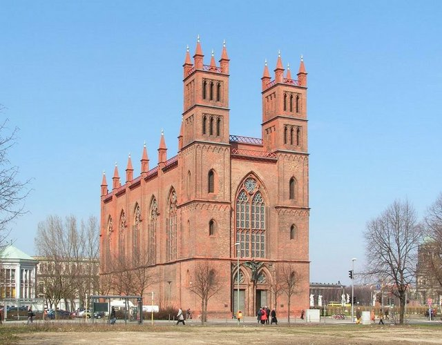 Karl Friedrich Schinkel, Friedrichswerderscherkirche, Berlin, Photograph by Dieter Brügmann.jpg