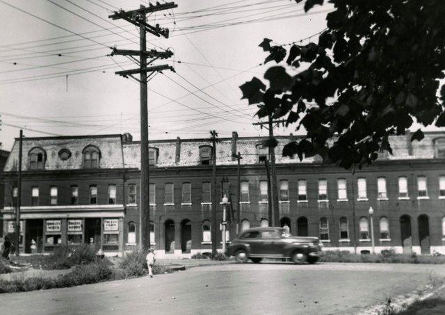 DeMenil Rental Houses, 3357-75 S. 7th Street, Photograph by William Swekosky, Missouri History Museum, St. Louis, N04511.jpg