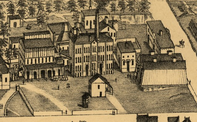 Anheuser Busch & Co. in 1876, Detail of Compton and Dry's Pictorial St. Louis, Library of Congress.jpg