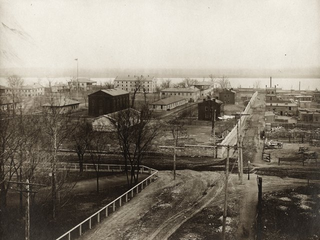 View of the St. Louis Arsenal from the Southwest, Photograph by George Stark, 1905, Missouri History Museum, St. Louis, N10657.jpg