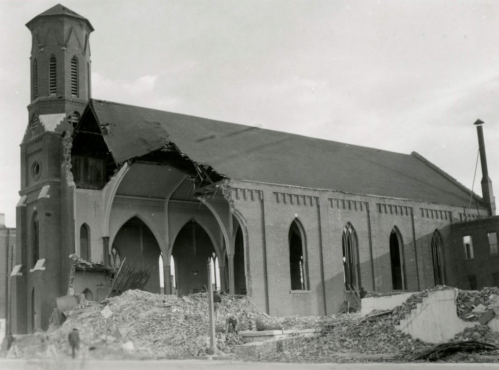 More than 40 African-American churches were demolished in Mill Creek Valley