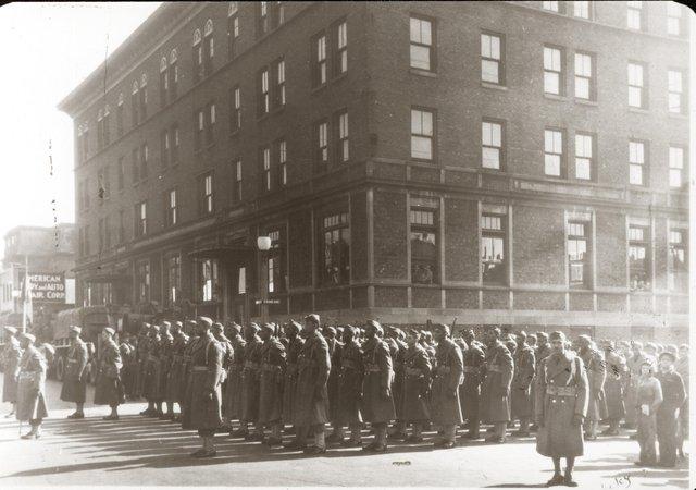 African American Soldiers in Front of Pine Street YMCA, 2846 Pine Street, 1942-44, Missouri History Museum, N37531.jpg