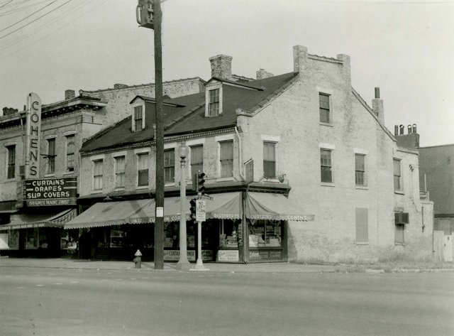 Cohen's Curtains, Broadway and Lafayette, Photography by William Swekosky, Missouri History Museum, N04799.jpg