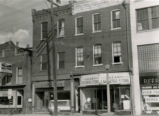 Lazar's Exchange Store and Omaha Market, 2120-2 South Broadway, Photograph by William Swekosky, Missouri History Museum, N04875.jpg