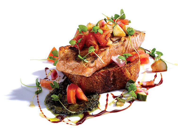 The salmon panzanella at Boundary takes bread to new heights