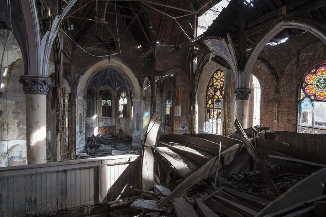 View of Interior of St. Augustine Looking Towards Apse from Upper Balcony, Photograph by Jason Gray.jpg