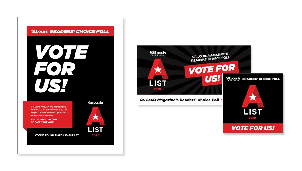 A-List Voting Promotions Graphic
