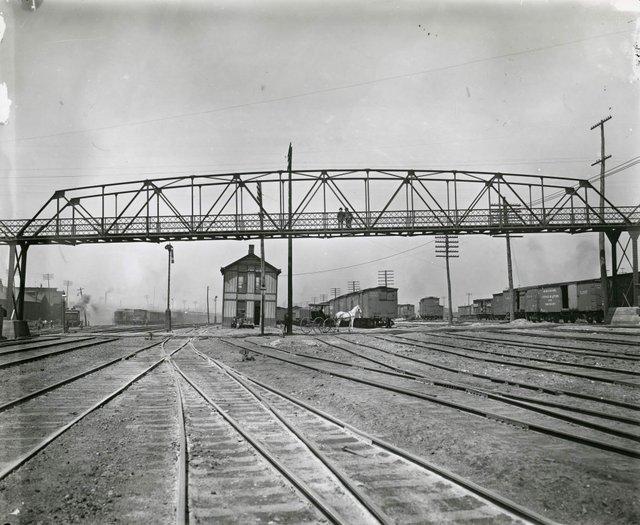 Pedestrian Bridge over Mill Creek, 19th Century, Photograph by William Swekosky, Missouri History Museum, N25977.jpg