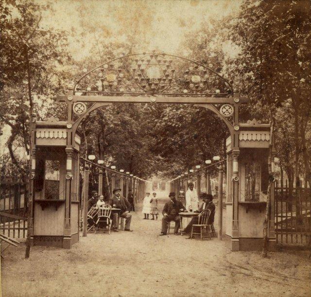 Entrance Gate for Schnaider's Beer Garden, c. 1880, Photograph by Boehl and Koenig, Missouri History Museum, N30027.jpg