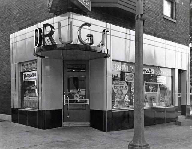 George A. Deneal Drugs, 4500 Virginia, Photograph by W.C. Persons, September 28, 1940, Missouri History Museum, N41017.jpg