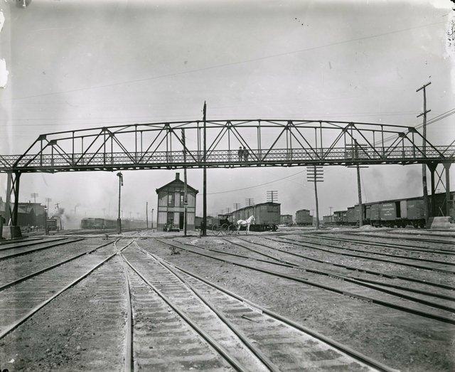 Pedestrian Bridge Near Jefferson Avenue Over Mill Creek Valley, 19th Century, Missouri History Museum, N25977.jpg