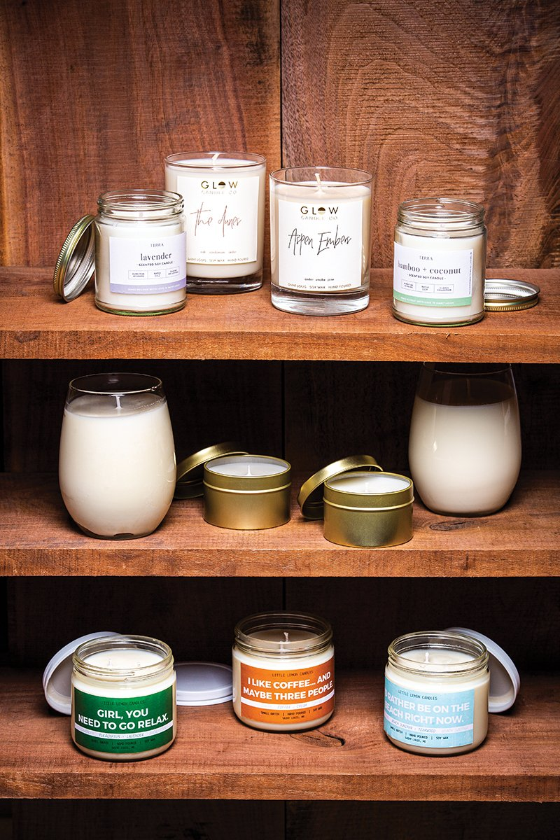 Hunker down and light these locally poured candles