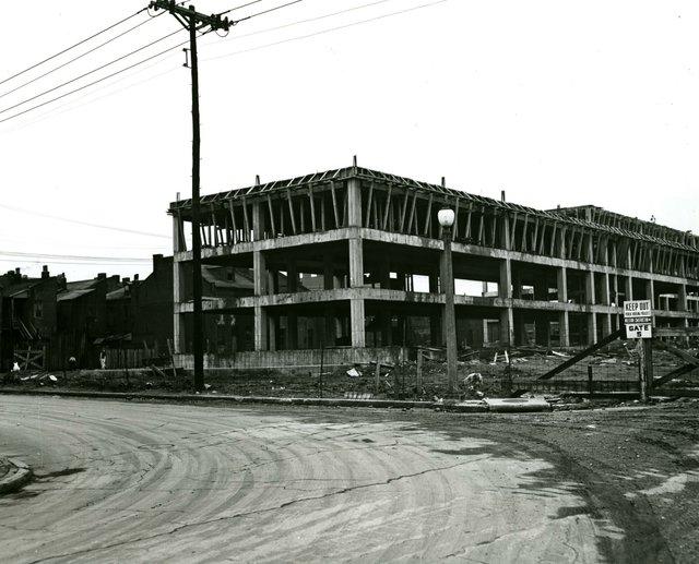 Carr Street Segregated Housing Project Under Construction, Arthur Proetz, 1954, Missouri History Museum, N46311.jpg