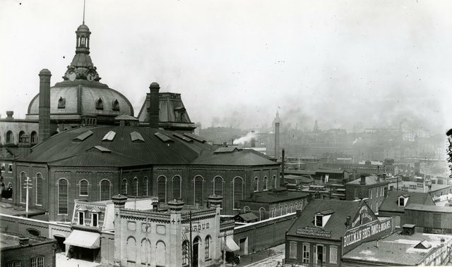 Andrew J. O'Reilly, View of the Back of the Four Courts Showing Jail and Morgue, August 9, 1888, Missouri History Museum, N10374.jpg