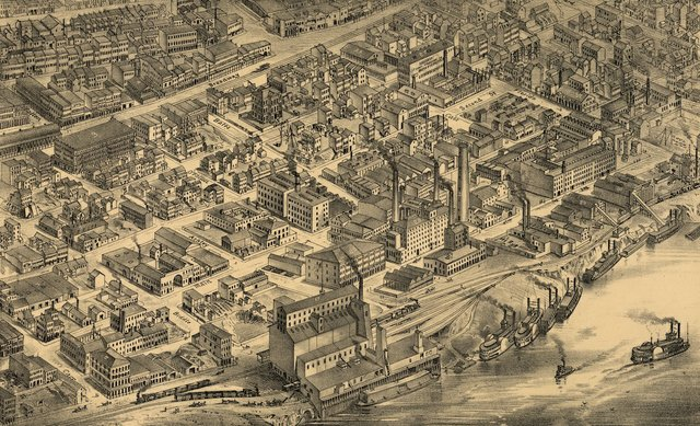 Detail of Plate 19 of Compton and Dry, showing Near North Riverfront.jpg