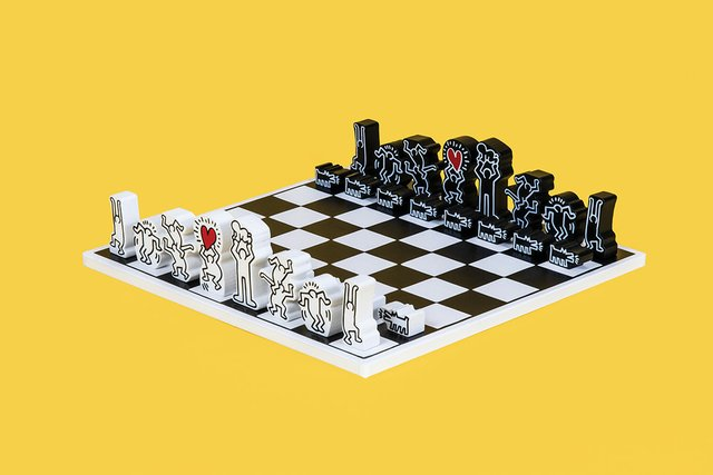 Vilac, Keith Haring Chess Set, 2019, Collection of the World Chess Hall of Fame, Keith Haring artwork copyright ©️ Keith Haring Foundation_Photo by Austin Fuller.jpg